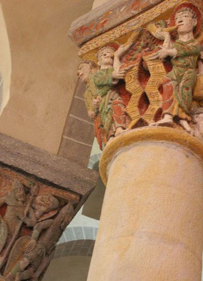 Chapiteaux de l'église de Saint Nectaire