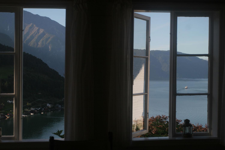 Fenêtres sur le Sognefjord à Kaupanger (Norvège)