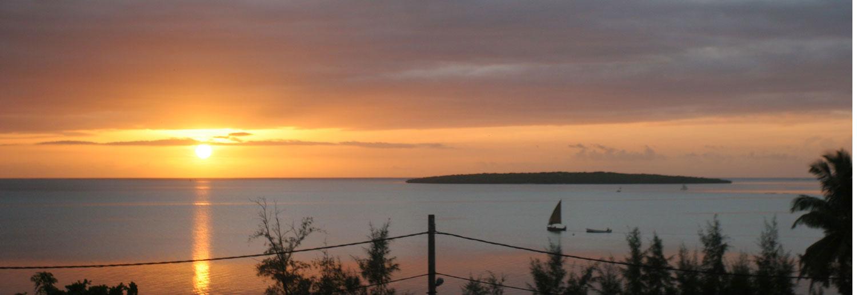 Lever de soleil sur l'île aux Aigrettes