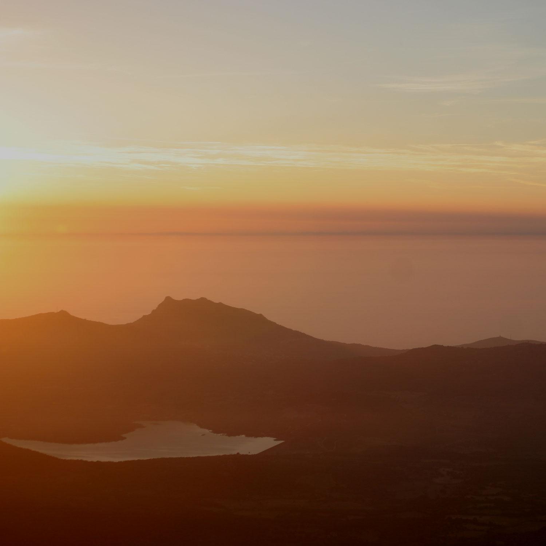 Vue sur la retenue de Codole et le Monte Sant'Angelo